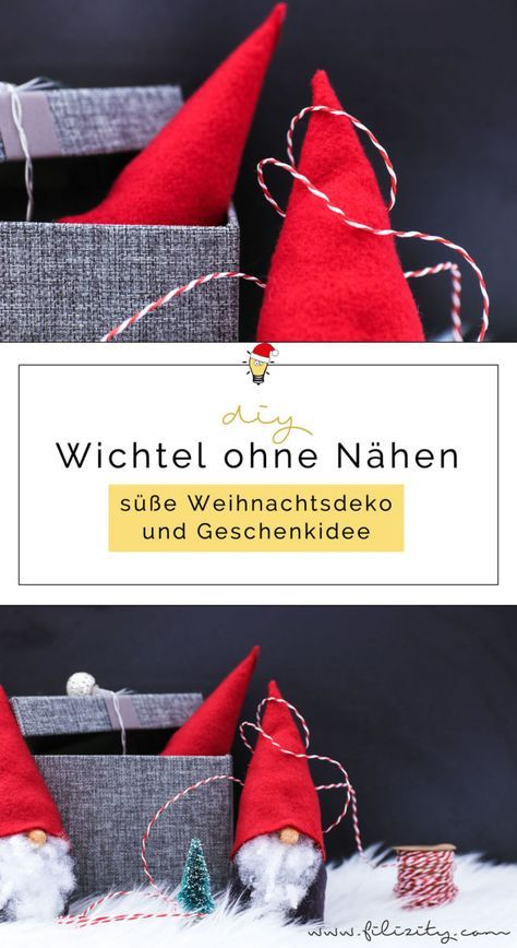 Wichtel basteln ohne Nähen - Süße Weihnachtsdeko und Geschenkidee | Filizity.com | DIY-Blog aus dem Rheinland #kleineweihnachtsgeschenkebasteln