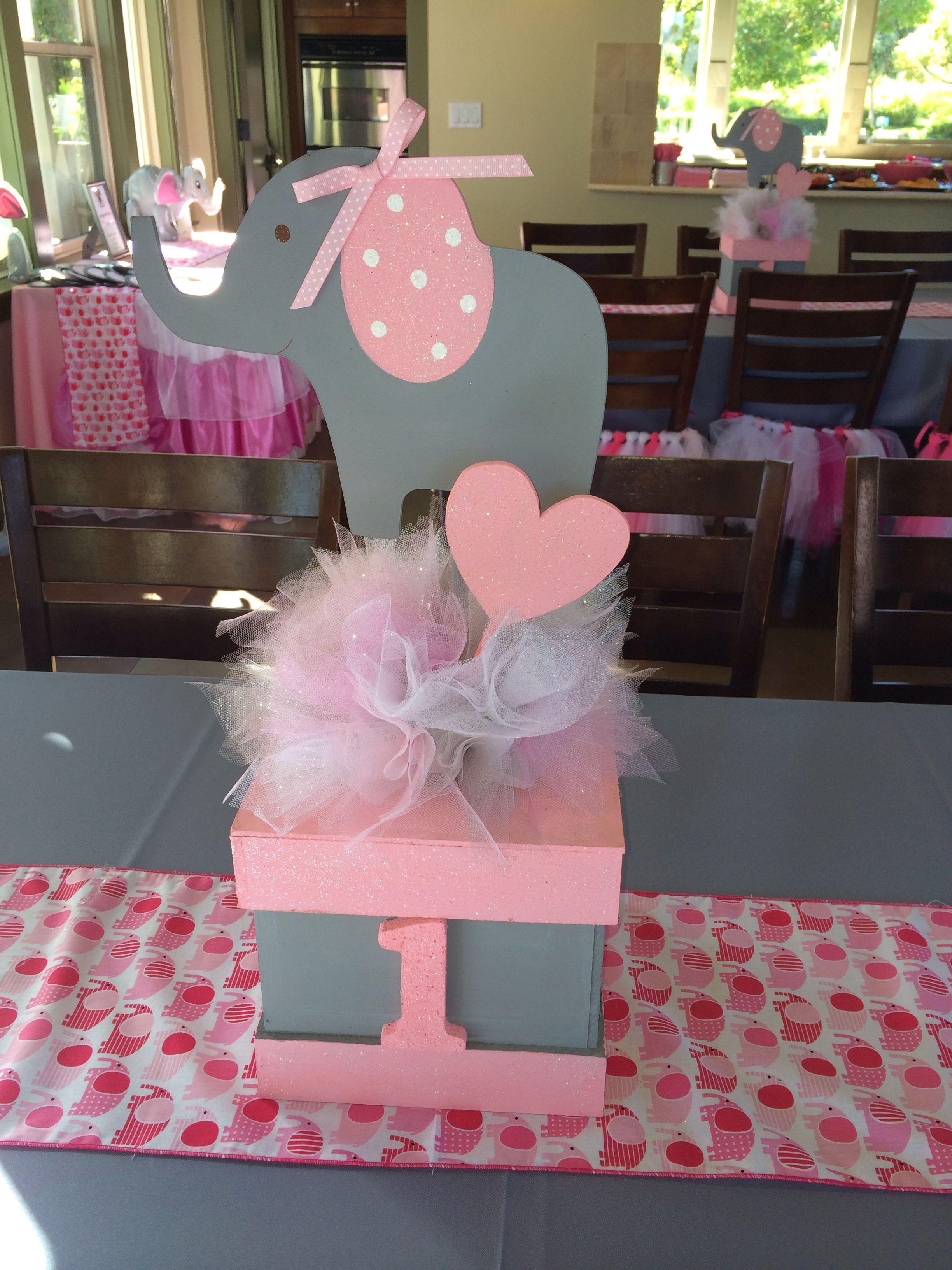 Kiana\'s first birthday! Elephant theme | baby shower | Pinterest ...