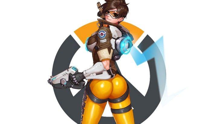 Tracer Sexy Overwatch Girl Art Wallpaper  Искусство-3891