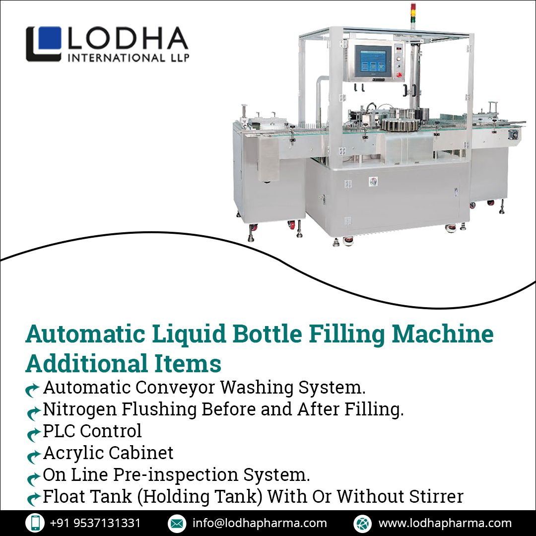 Explore The Different Liquid Filling Machines Used In Different Industries That Provides Maximum Output Up To 80 Bottles Per Min Liquid Bottle Filling