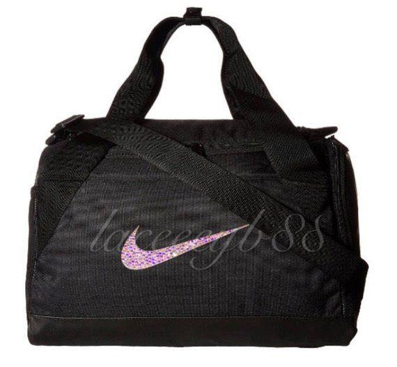 a20e5eaf3446 Bling Swarovski Nike Duffel Bag-Black