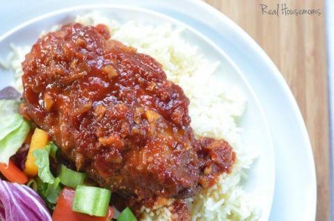 Slow Cooker Honey Garlic Chicken | Real Housemoms