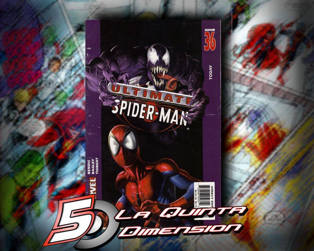 ULTIMATE SPIDER-MAN # 36 CONTINÚA EL ORIGEN DE VENOM EN EL UNIVERSO ULTIMATE. $ 100.00 Para más información, contáctanos en http://www.facebook.com/la5aDimension