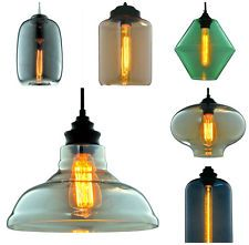 Modern Industrial Antique Vintage Style Pendant Light Ceiling Glass Lamp Shade