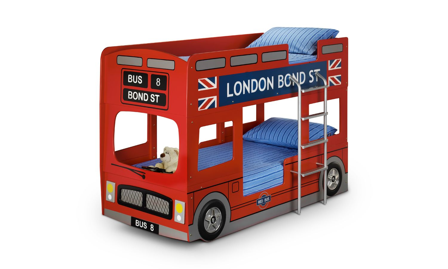 Car bunk beds for kids - London Bus Bunk Bed