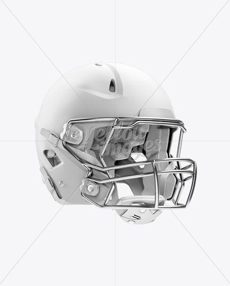 Download Matte American Football Helmet Mockup Halfside View In Apparel Mockups On Yellow Images Object Mockups Football Helmets Clothing Mockup Football Kits