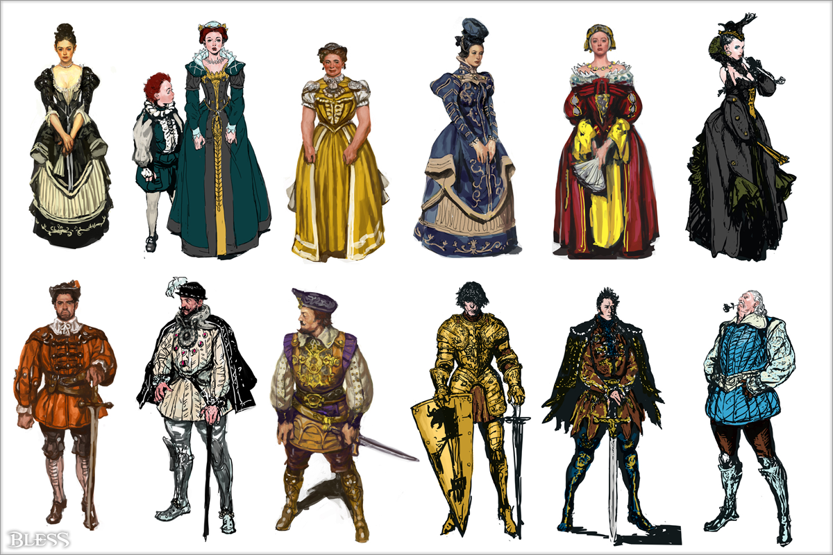 Character Design Course Free : The npcs of bless online mmorpg