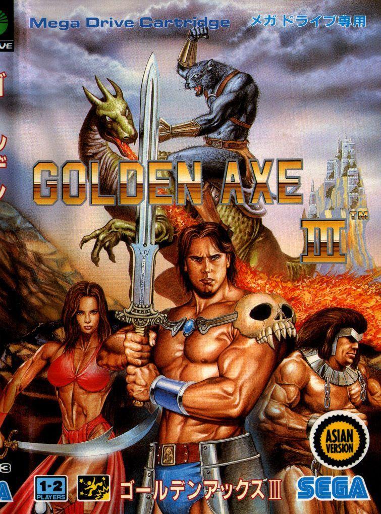 Golden Axe 3 For The Genesis Repro Cart Retro Video Games