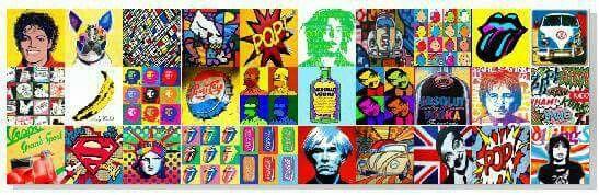 Painel de acrílico inspirado na pop art