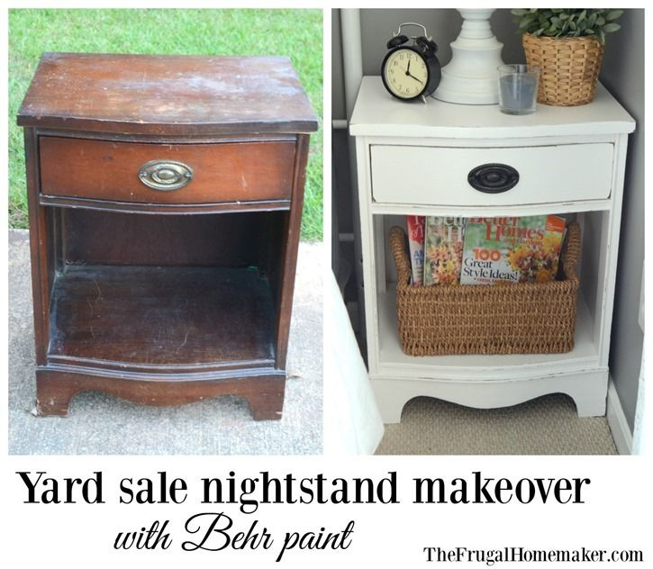 official photos 00beb 8f205 Yard sale nightstand makeover with Behr paint   Frugal ...