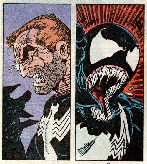 Venom Shows His Real Face Art By Todd Mcfarlane Symbiotes Marvel Venom Comics Eddie Brock Venom