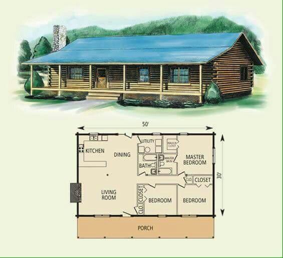 Three Bdrm One Story Log Cabin Pax Cabin Floor Plans Log Home