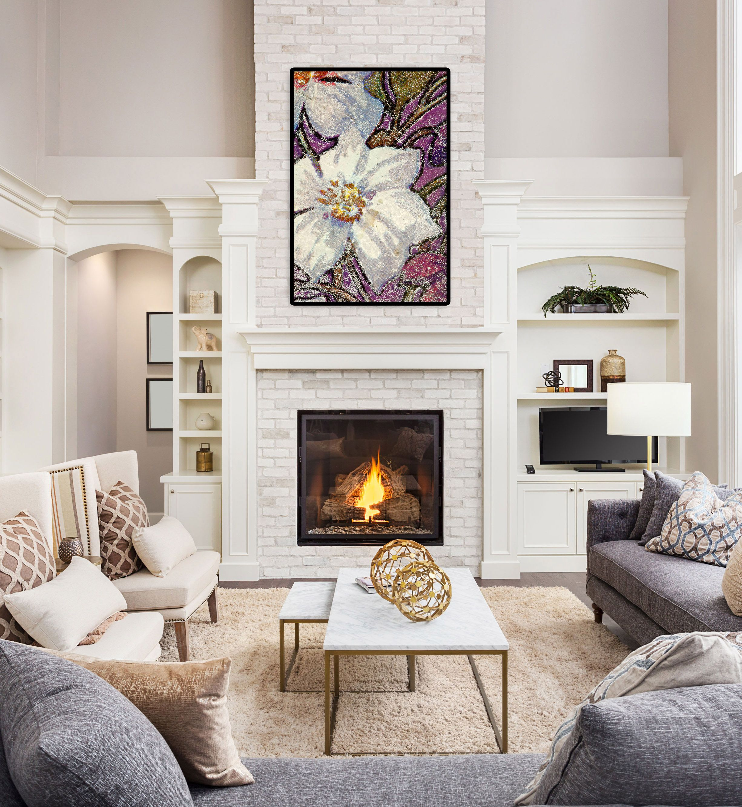 Living Room Staging Ideas: Morning Song Fine Art Canvas