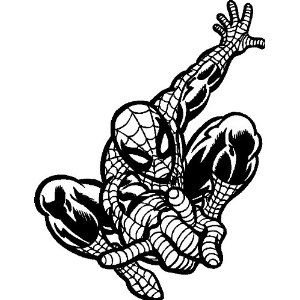 Amazon Com Spiderman Wall Stickers Decals Graphics Art 40 X 52 Black Ho Superhero Coloring Pages Superhero Coloring Spiderman Stencil