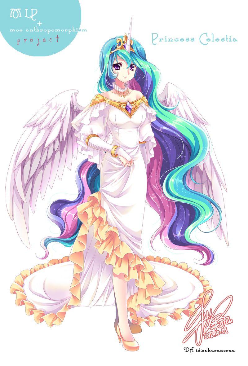 Mlp celestia of moe anthropomorphism by sakuranoruu on deviantart mlp fim dessin anim - Pony dessin anime ...