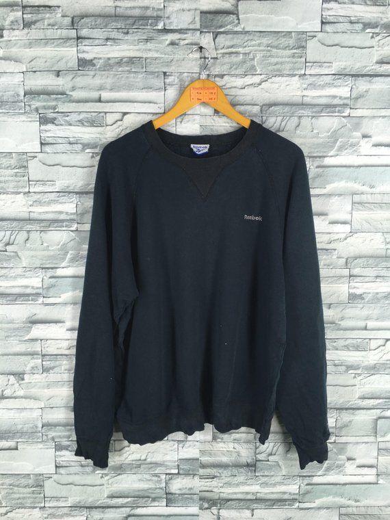 63e44ed639672 Vintage 90's REEBOK Sweatshirt Women/Men Large Black Reebok ...
