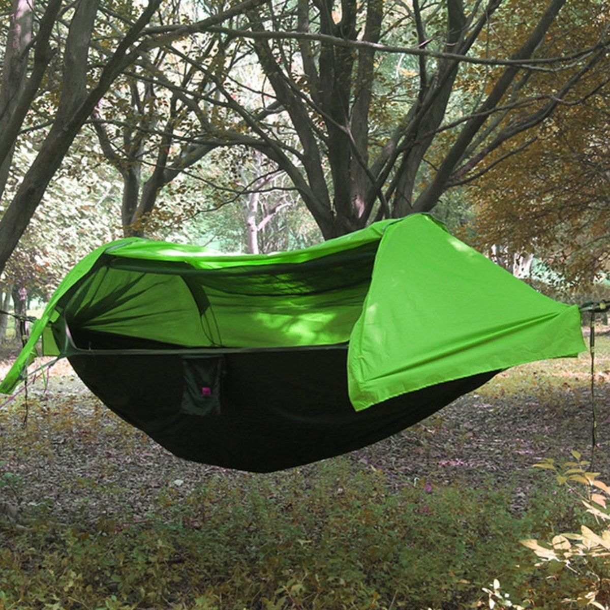 amazon    patent camping hammock with mosquito   and rainfly cover  green  amazon    patent camping hammock with mosquito   and rainfly      rh   pinterest co uk