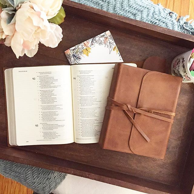 esv single column journaling bible brown flap with strap