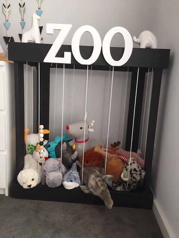 Soft Teddy Zoo Toy Storage Stuffed Animal Zoo Timber By Twigmel Toy Room Storage Kid Room Decor Kids Bedroom