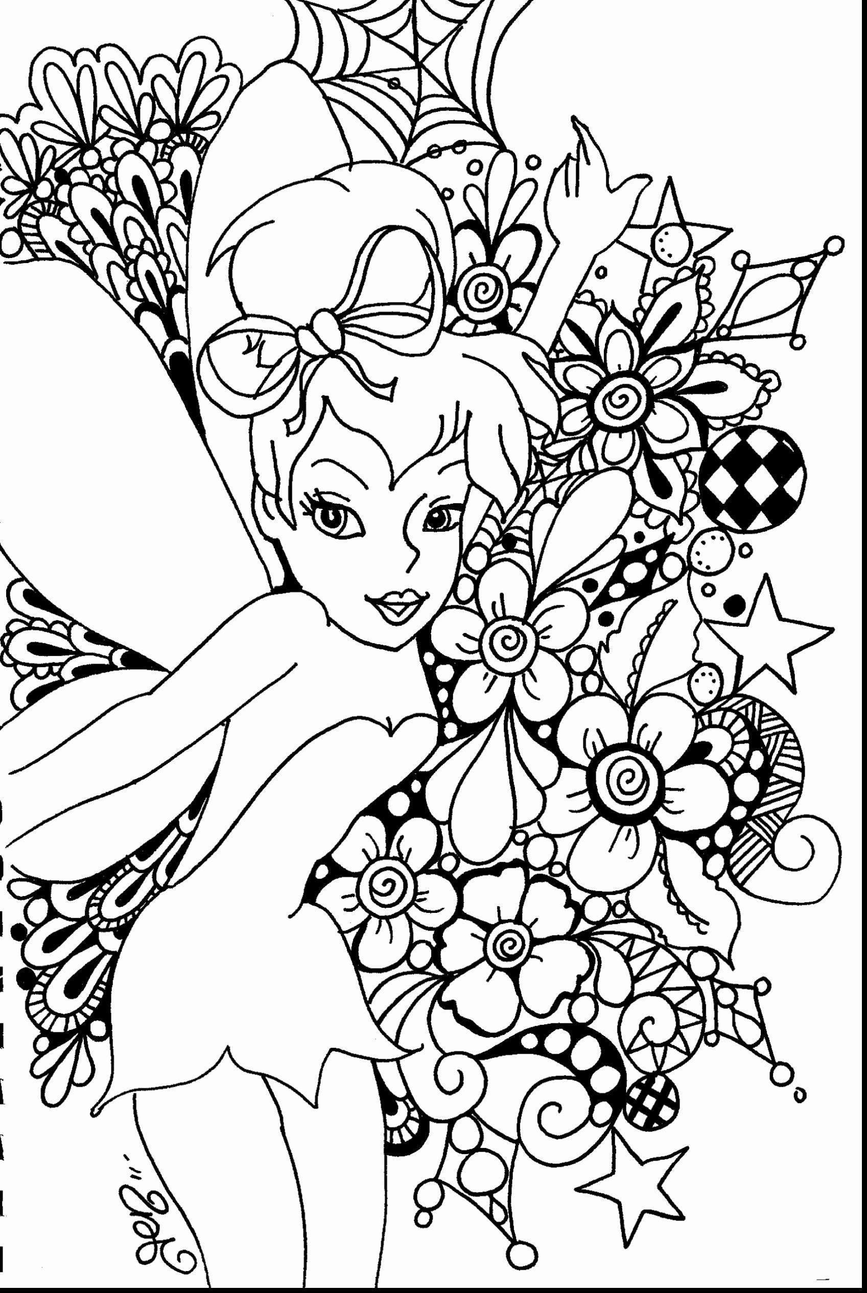 Disney Coloring Pages For Adults Unique Disney Coloring Pages For Adults Line In 2020 Tinkerbell Coloring Pages Fairy Coloring Pages Fairy Coloring