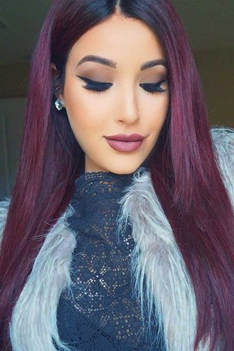 40 Flirty Burgundy Hair Ideas | LoveHairStyles.com -   16 plum hair Burgundy ideas