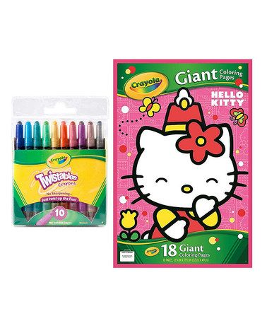 Hello Kitty Giant Coloring Book Twistables Crayon Set Crayon Set Coloring Books Hello Kitty