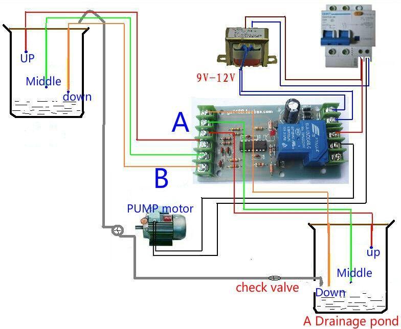 Liquid Level Controller Solar Panel Calculator Circuit Diagram