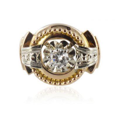 Bague ancienne diamant ebay