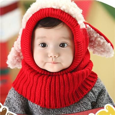08d843905 Cute Baby Rabbit Ears Knitted Hat Infant Toddler Winter Warm Hat ...