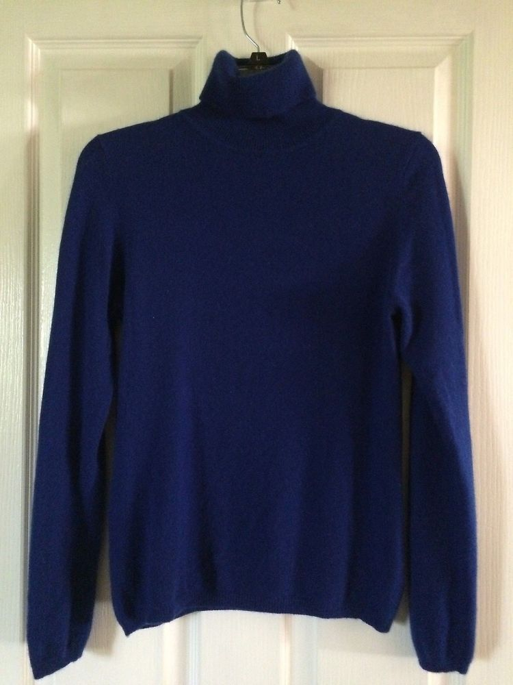 a9cdc3ab3b5 CHARTER CLUB Cashmere Turtleneck Sweater Long Sleeve Royal Blue   CharterClub  TurtleneckMock  any