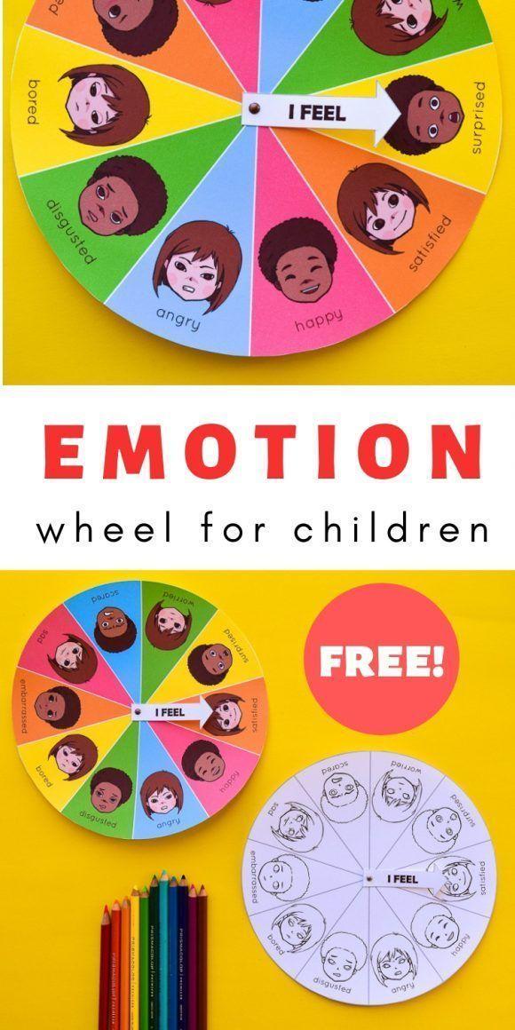 Free Printable Mood & Emotion Wheel Chart for Children