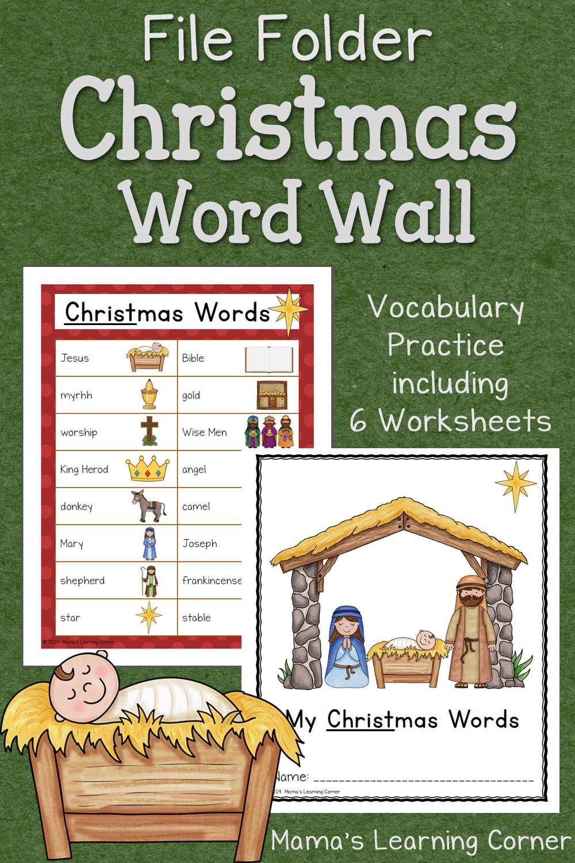christmas file folder word wall ultimate homeschool