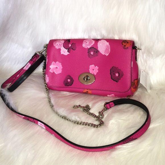 Coach pink floralflowers cross body bag f35553 coach pink floralflowers cross body bag f35553 brand new 100 authentic mightylinksfo