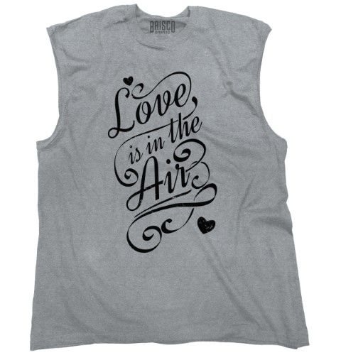 Love Is In Air Cute Women Shirts Funny Picture Shirt Gift Cool Sleeveless Tee, Women's, Size: XL, Grey