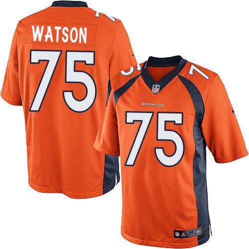 Youth Nike Denver Broncos  75 Menelik Watson Limited Orange Team Color NFL  Jersey 0f1988804