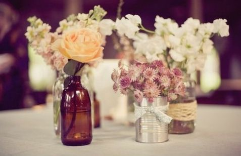 Ombre Flower & Rustic Wedding Centerpiece Ideas www.MadamPaloozaEmporium.com www.facebook.com/MadamPalooza