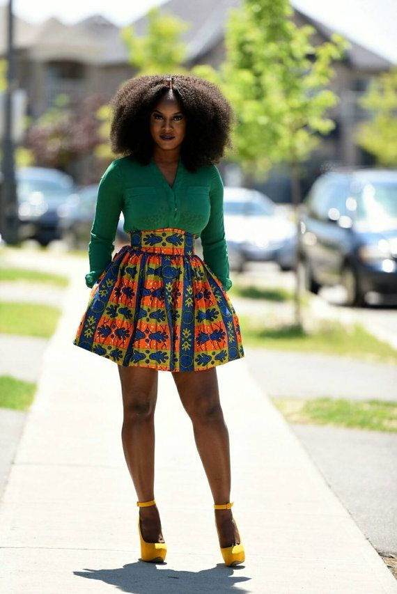 c162c4b4390 African print mini skirt. by RAHYMA ~African fashion