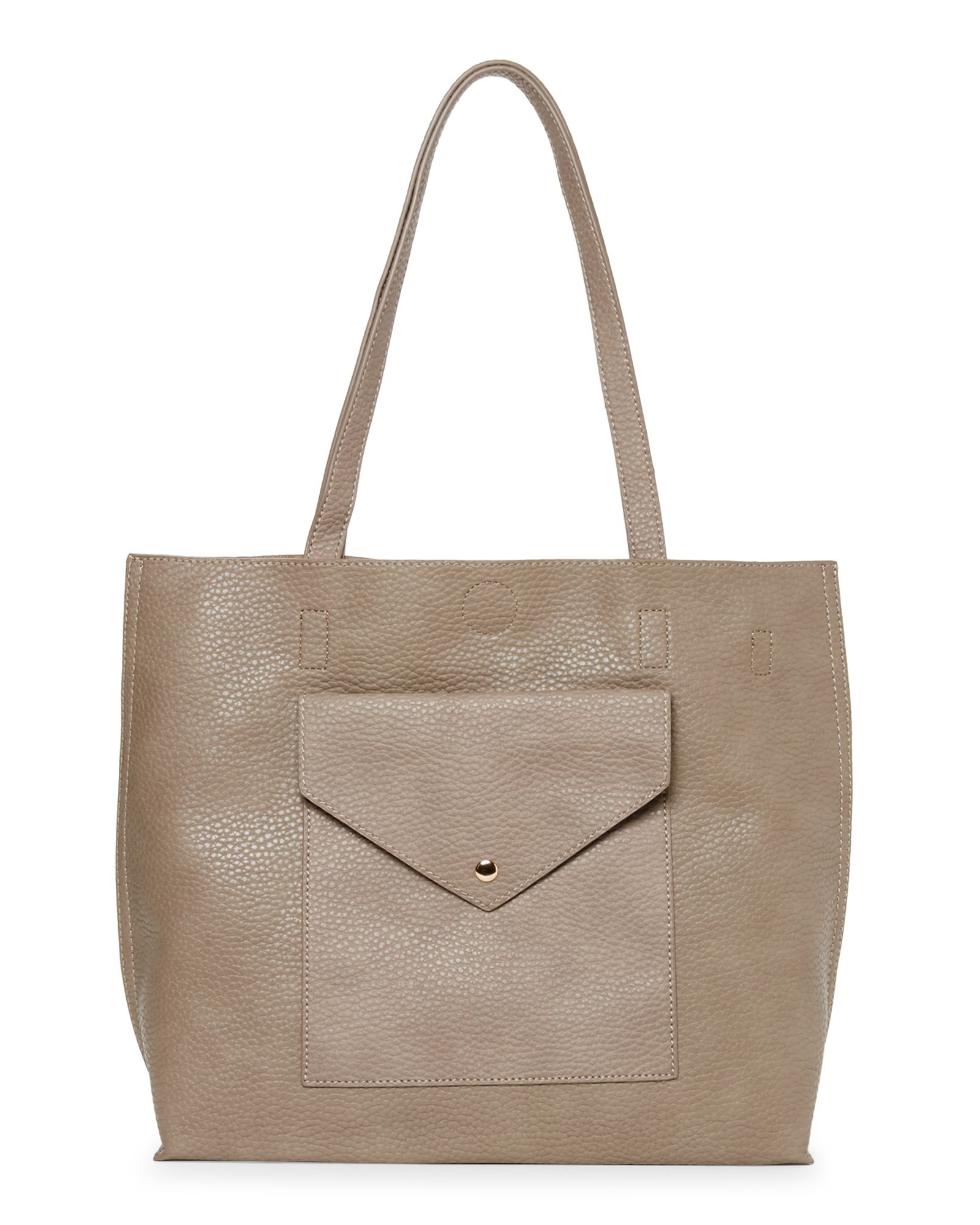 Urban Expressions Large Vegan Tote with Pocket