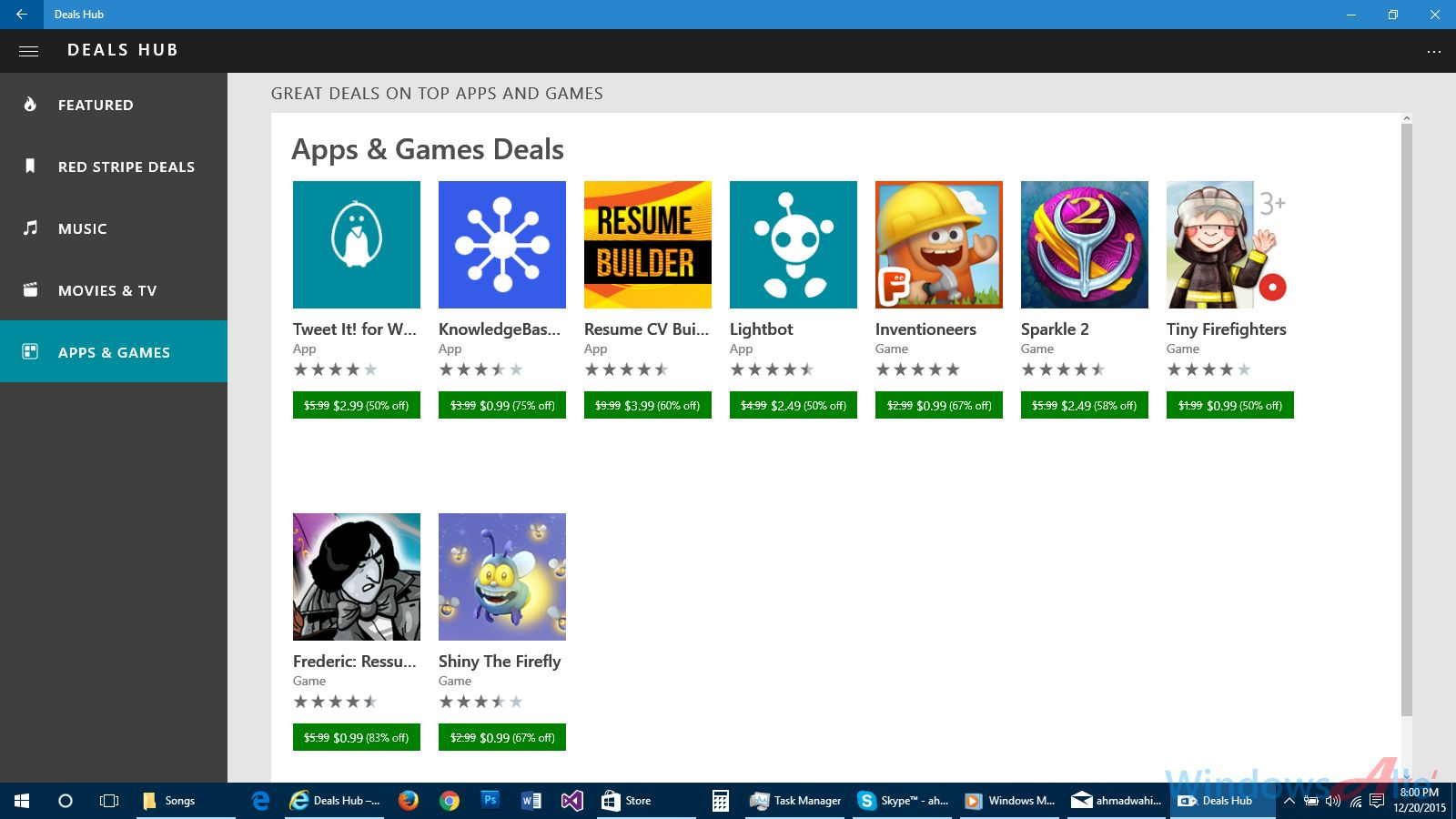 Deals Hub App By Microsoft For Windows 10 Will Keep You Updated With Hot Deals On Apps Music And More In Store App Windows 10 Windows