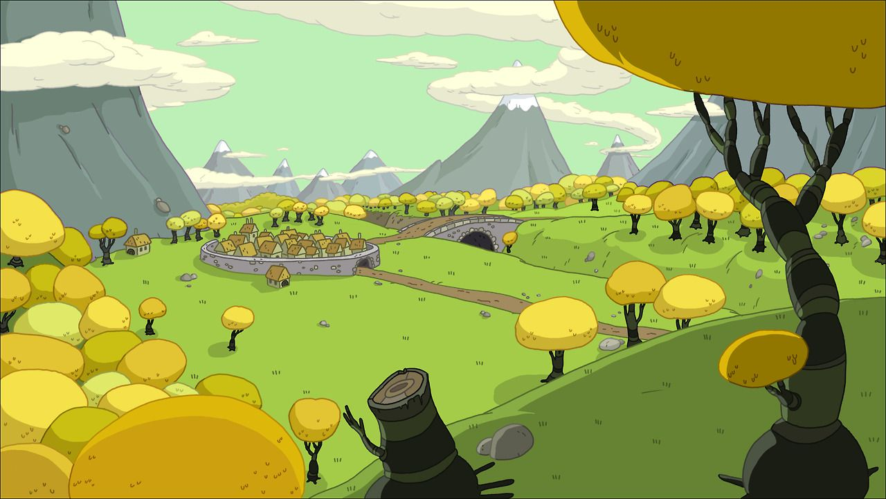 The Land of Ooo from Adventure Time Adventure Time