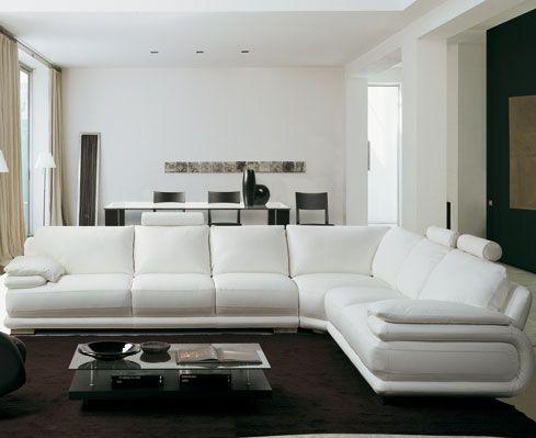 Salotto Bianco In Pelle.Divani Componibili Atlantic Chateau D Ax Salotti