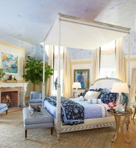 For The Designer Showhouse Of New Jersey Interior Design Doyenne Barbara Ostrom Incorporated Both Robert Allen And Beacon Hill Fabrics Into An Epic Master