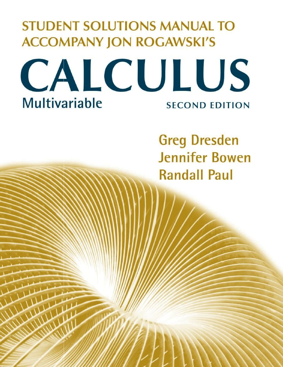 Rogawski Calculus Multivariable Solutions Calculus Solutions Manual