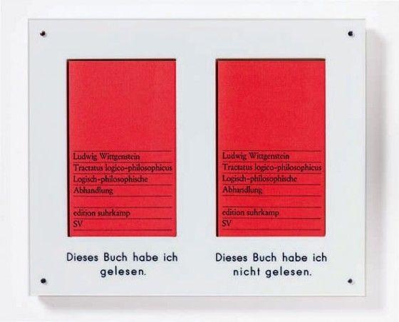 """Timm Ulrichs – """"Dieses Buch habe ich gelesen – Dieses Buch habe ich nicht gelesen"""", 1970"""