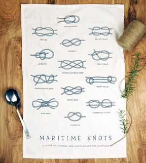 Maritime Knots Kitchen Towel