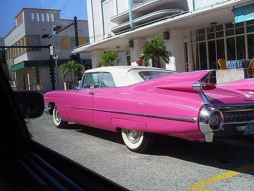 Pink Cadillac Miami Beach Art Deco Pink Cadillac And Cadillac - Cadillac dealer miami
