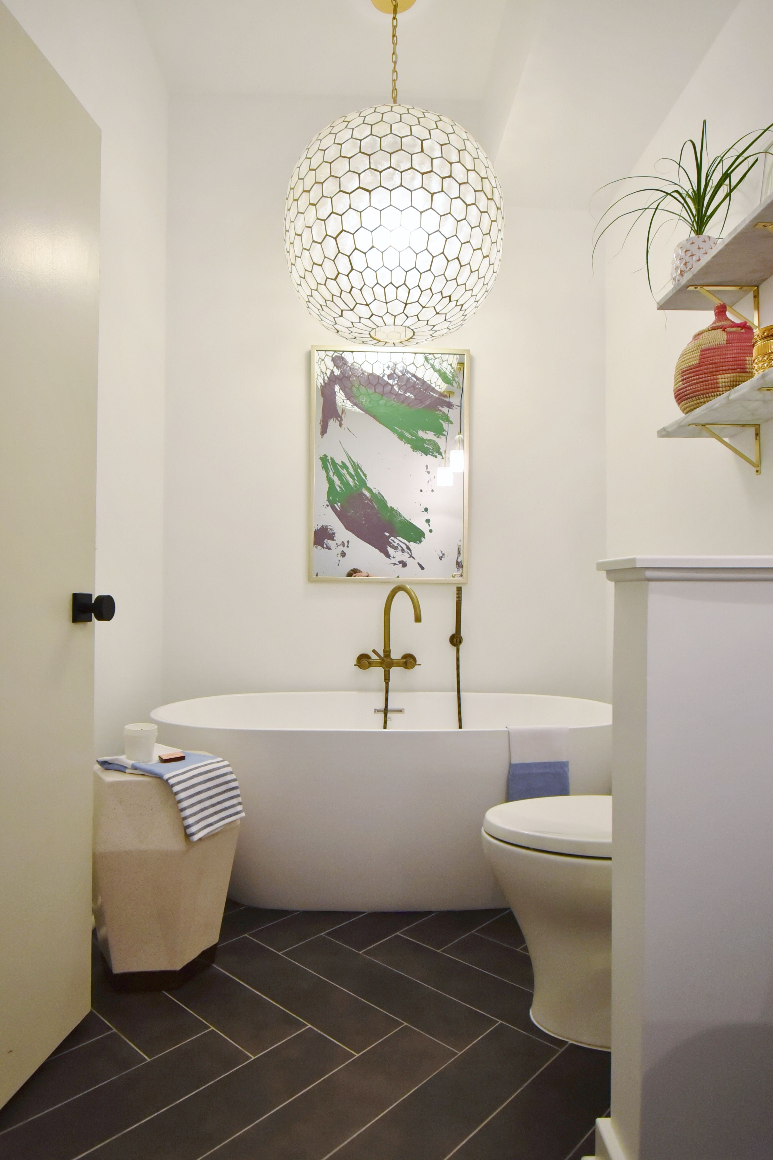 this eclectic modern bathroom is crisp bold pops of on modern functional bathroom design id=90839