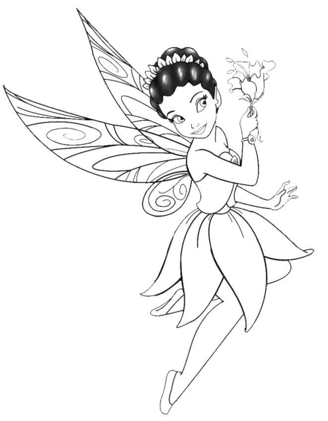 Disegno la fatina dei fiori disegni da colorare e for Immagini di fiori facili da disegnare