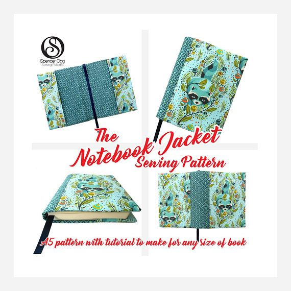 Notebook Cover Sewing Pattern With Free Book Cover Tutorial For