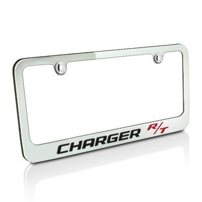 Dodge Charger R T Chrome Metal License Frame